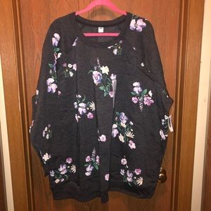 NWT Old Navy Plus Size  4x Floral Crew Sweatshirt